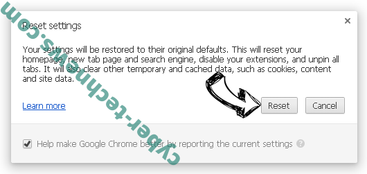Search.porterice.com Chrome reset