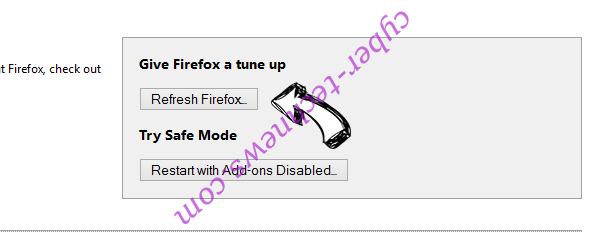 Search.hfastpackagetracker.net Firefox reset