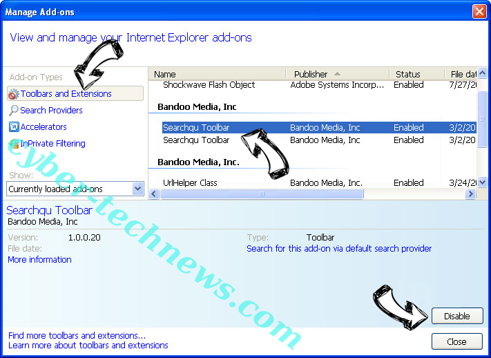 Newtab.getwebgenie.org IE toolbars and extensions