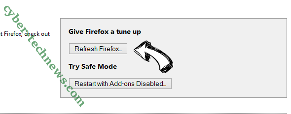 Mysearchency.com Firefox reset