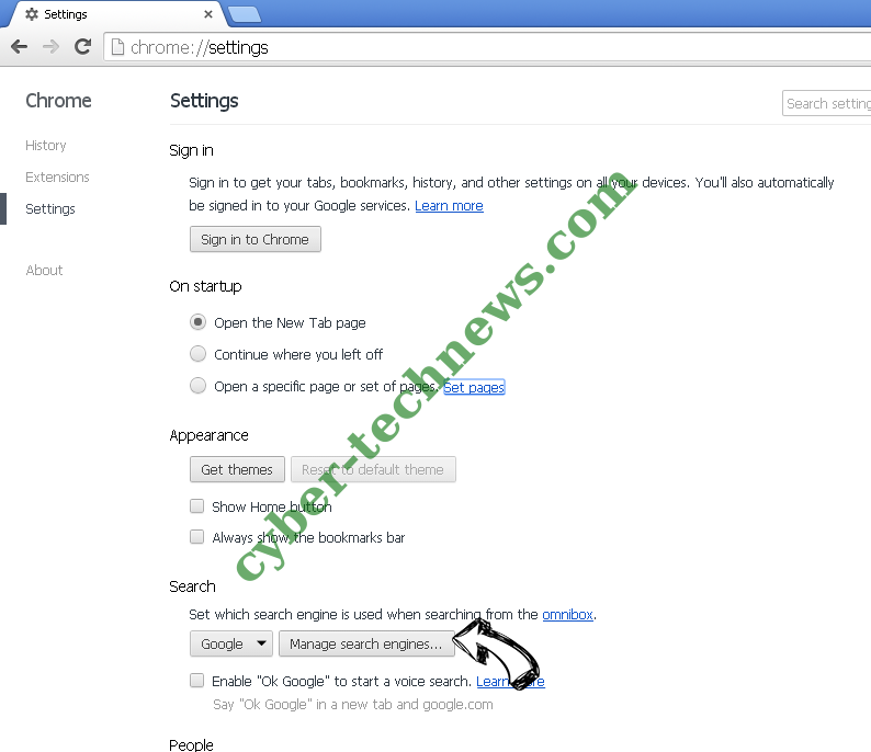 Thursailso.com Chrome extensions disable