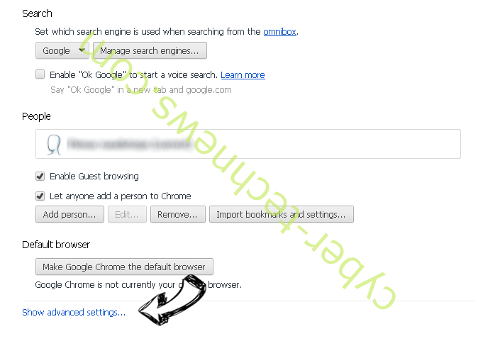 Thursailso.com Chrome settings more