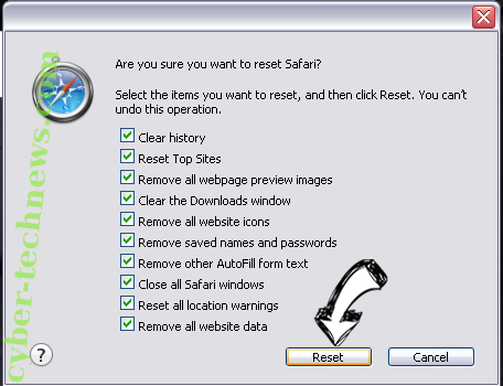 Savvy.search.com Safari reset
