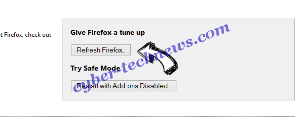 Searchtargeted.com Firefox reset