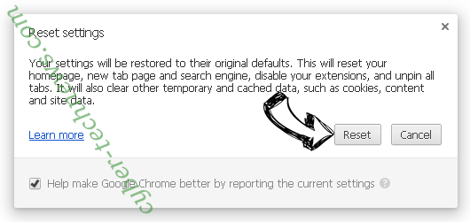Searchinguncovered.com Chrome reset