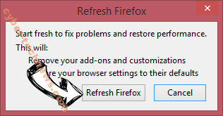 Searchinguncovered.com Firefox reset confirm