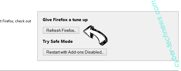 Search.ht-cmf.com Firefox reset