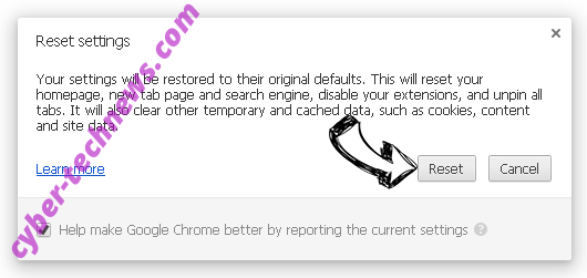 Bing.com Chrome reset