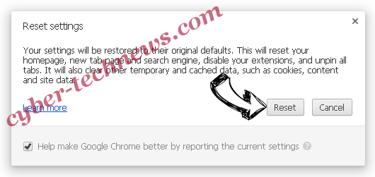 AreaProduct Chrome reset