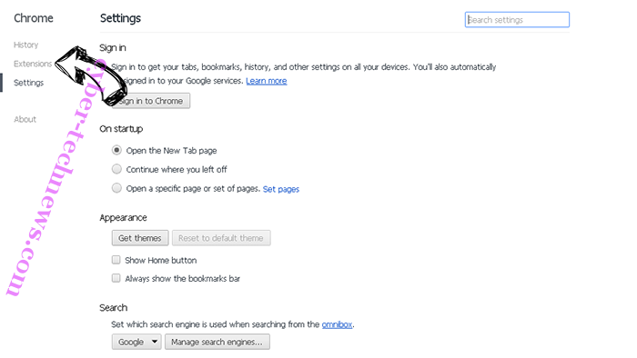 AreaProduct Chrome settings