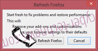 AreaProduct Firefox reset confirm