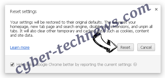 quickmapssearch Chrome reset