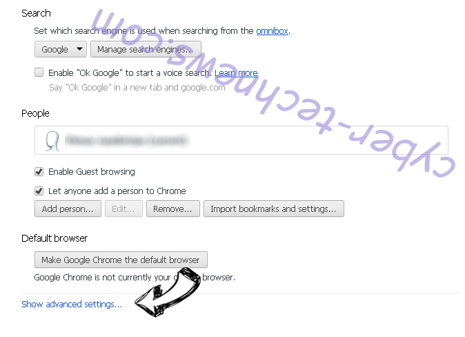quickmapssearch Chrome settings more