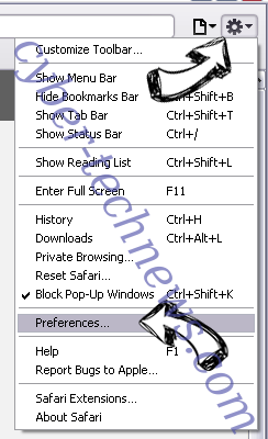 searchsafe.club Safari menu