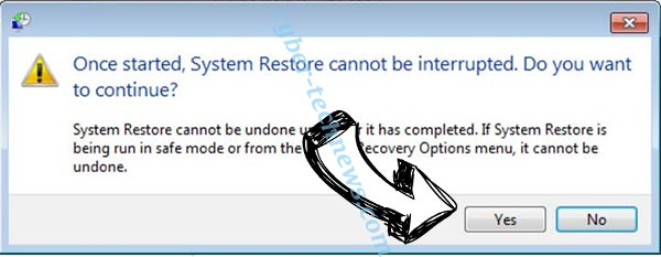 Black Worm Ransomware removal - restore message