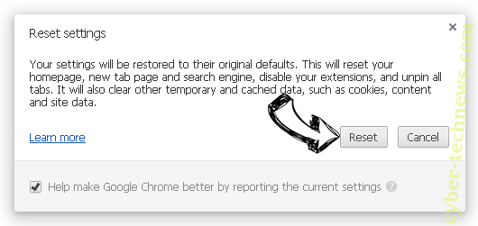 Homepage.re Chrome reset