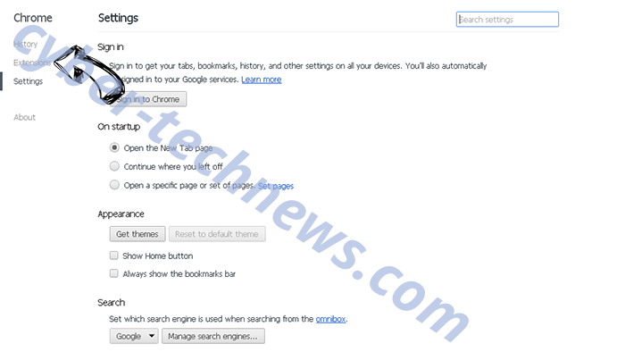 Newtab.newsreader.me Chrome settings