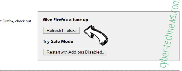 Search.anygator.com Firefox reset