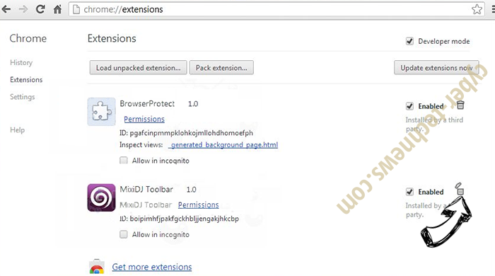 Upstairesphasi.club Chrome extensions remove