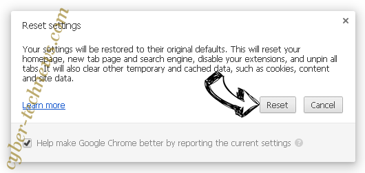 Oarddistrinexe.info Chrome reset