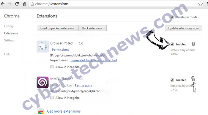 Weknow mac virus Chrome extensions disable