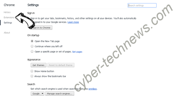 Search.ranimaker.com Chrome settings