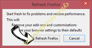 """Firefox requires a manual update"" scam Firefox reset confirm"