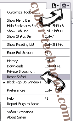 Houndrefronsof.club Safari reset menu