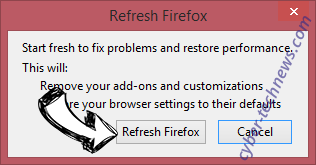 Search.searchyrs.com Firefox reset confirm