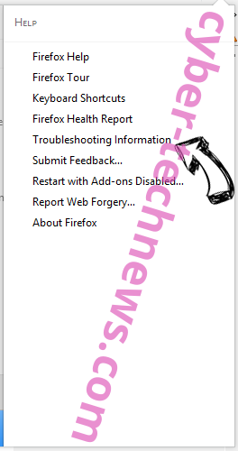 Search.searchyrs.com Firefox troubleshooting