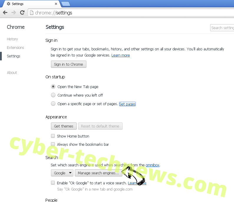 Hengaredi.pro virus Chrome extensions disable