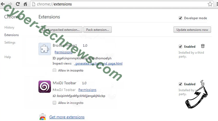 Search.searchm3w1.com Chrome extensions remove