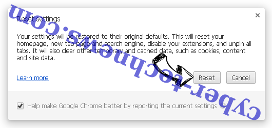 Search.pogypog.com Chrome reset