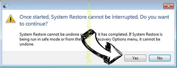 .Shadi File Virus removal - restore message