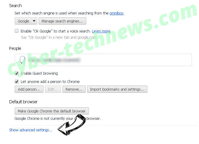 mp3pro.xyz virus Chrome settings more