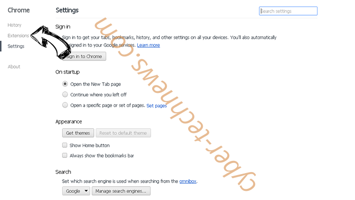 mp3pro.xyz virus Chrome settings