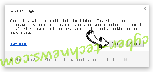 Search.searchbfr.com Chrome reset