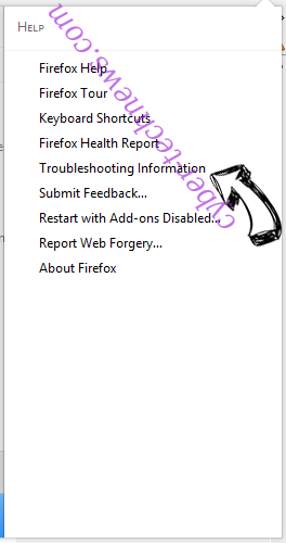 Search.tz-cmf.com Firefox troubleshooting