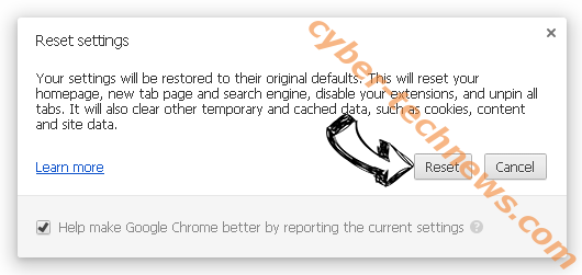 Findiosearch.com Chrome reset