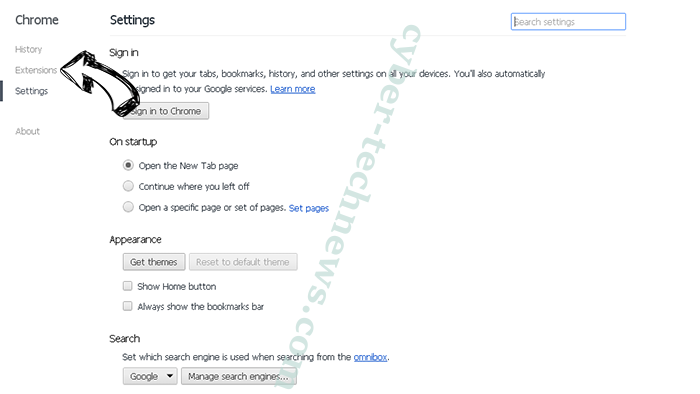 Knctr virus Chrome settings