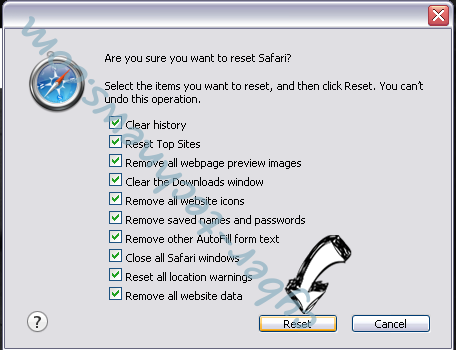 Knctr virus Safari reset