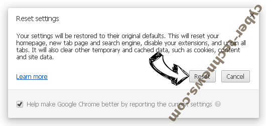 Pushlommy.com Chrome reset