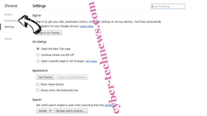 Search.memeinc.net Redirect (Mac) Chrome settings