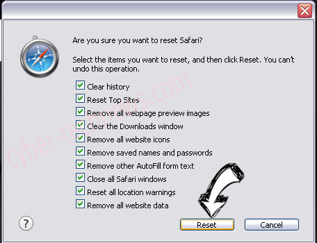 Finder.ninja Safari reset