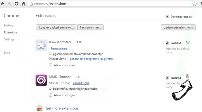 Search.hpackagefinder.app Chrome extensions remove