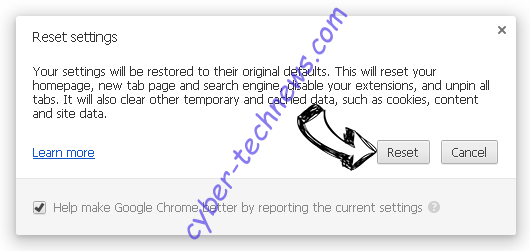 Search.hpackagefinder.app Chrome reset