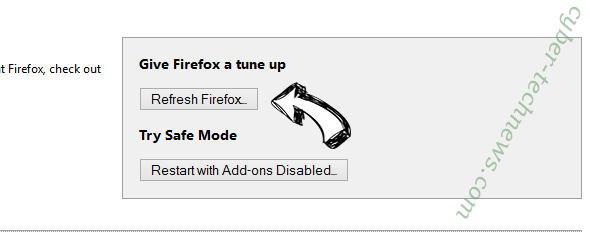 Search.convertallfiles.com Firefox reset