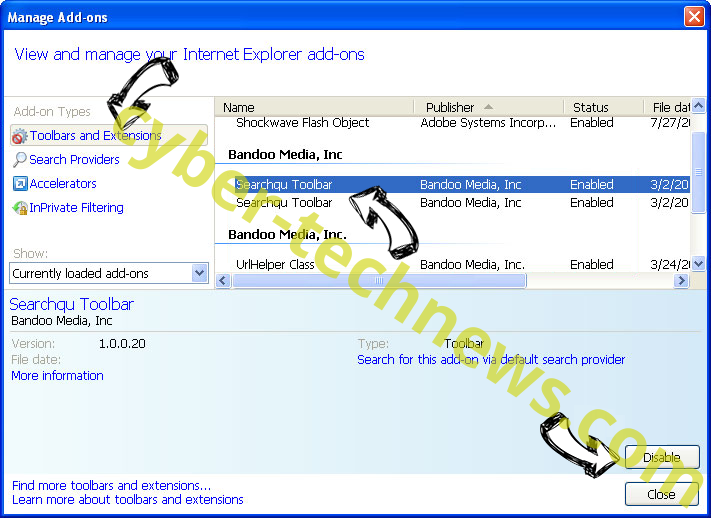 Search.hmyclassifiedslist.net IE toolbars and extensions
