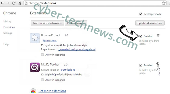 Browser Blocked Based On Your Security Preferences scam Chrome extensions disable