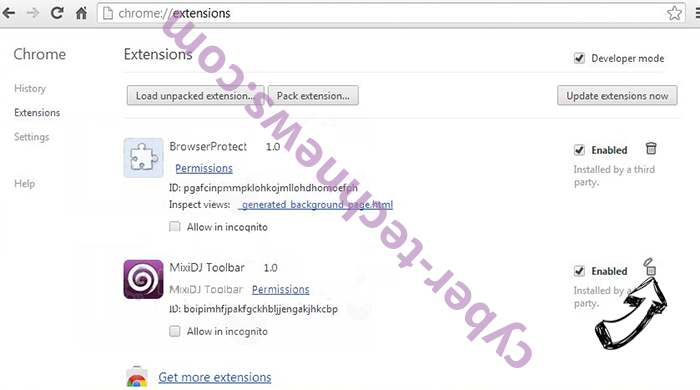 We Have Detected A Serious Security Problem Scam Chrome extensions remove